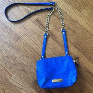 Olivia & Joy bright blue crossbody purse Bag